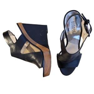 Michael Kors Josephine learher wedge sandals